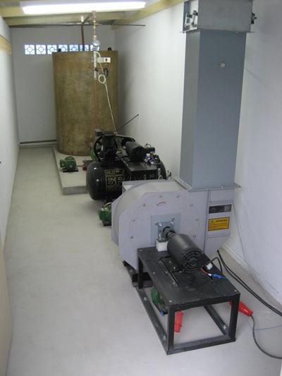 Sala de máquinas do laboratório