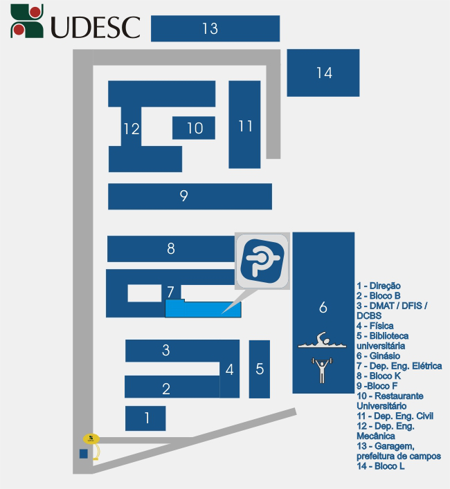 Mapa do campus UDESC-Joinville